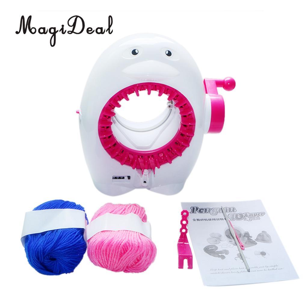 MagiDeal Kids Loom Knitting Machine Penguin Scarf Hat Socks Smart Knitter Educational Toy for Developing Creativity DIY Ability