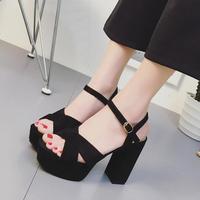 STAN SHARK High heeled Sandals 2019 Summer Sandal Shoes Women Sexy Female Suede Platform Gladiator summer women roman Sandals