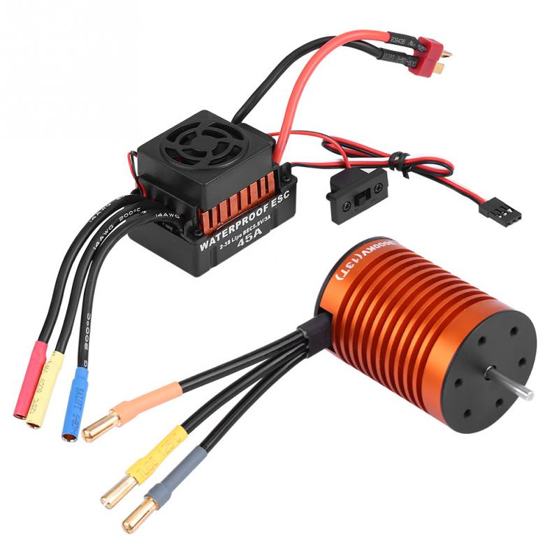 Rcharlance F540 3000KV Brushless Motor Waterproof 45A Brushless Bulit in 5 8V 3A BEC RC Combo