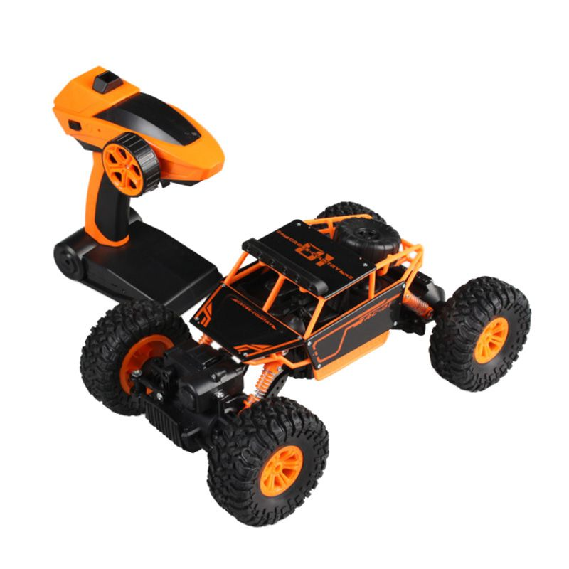 FB FUNNY BOX 4WD RC Monster Truck Off-Road Vehicle 2.4G Remote Control Buggy Rock Crawler Car Orange