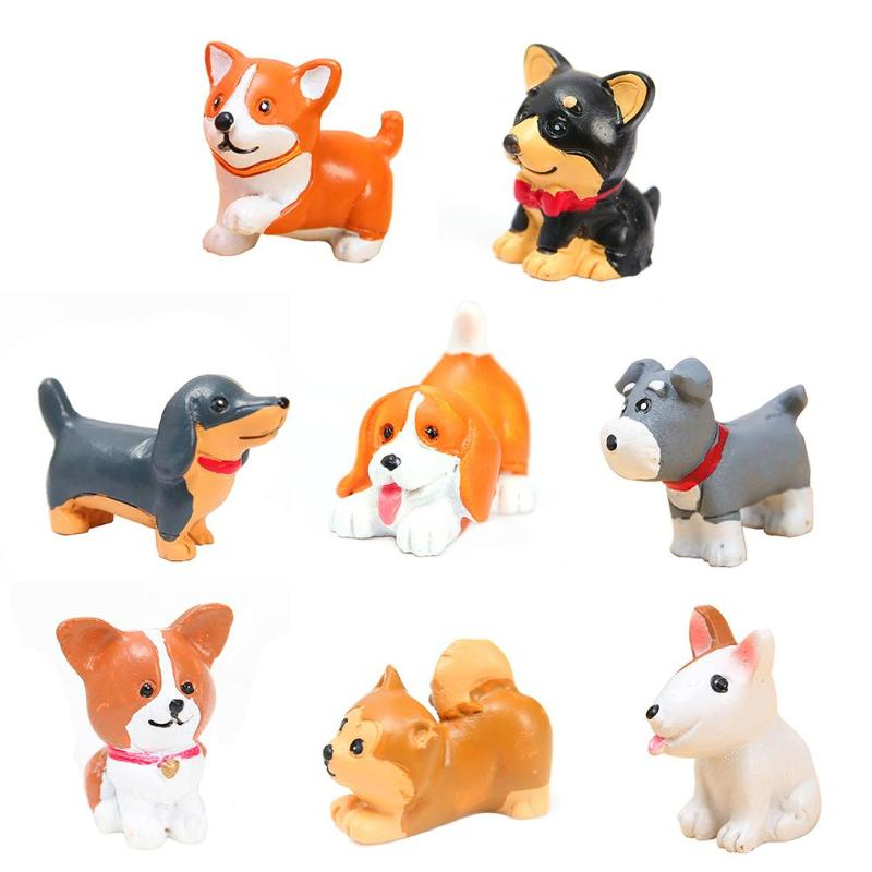 Cute Mini Dog Ornaments Resin  Uppy Micro Landscape Dog Crafts Car Home Decor Miniature Micro Gnome Kids Gifts