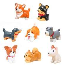 かわいいミニ犬の装飾品樹脂uppyマイクロ風景犬工芸品カーのホームインテリアミニチュアマイクロgnomeキッズギフト