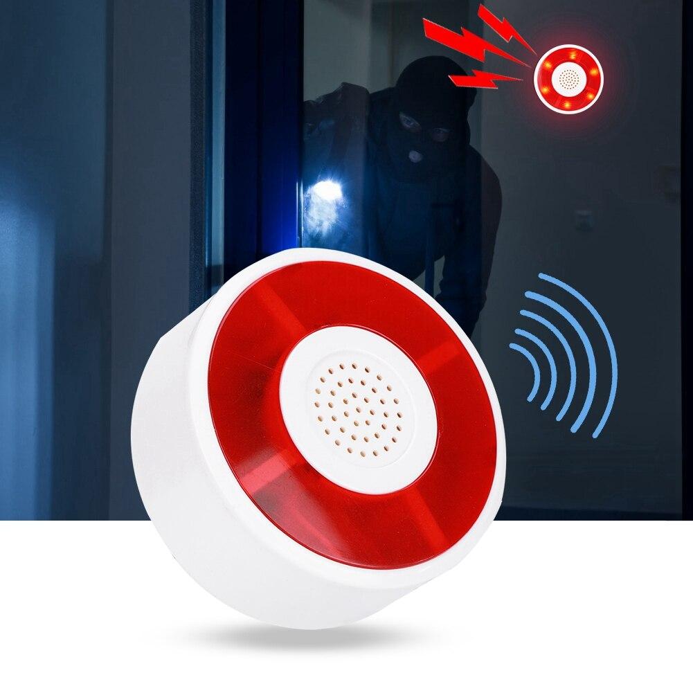 Security Alarm Dc 12v Led Flashing Lamp Security Alarm Strobe Signal Warning Light Siren With Acousto-optic Alarm System Sturdy And Durable