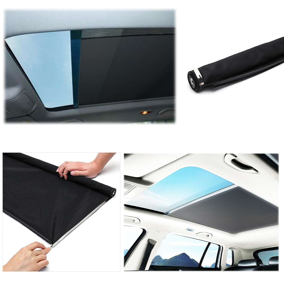 Black Skylight shutter Sunroof sunshade curtain For Audi Q5 for VW Sharan style TiguanBlack Skylight shutter Sunroof sunshade curtain For Audi Q5 for VW Sharan style Tiguan
