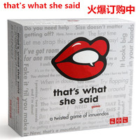 Heat Sell Desktop Card Game That's What She Said Blast Cat Hot Board Role playing Games