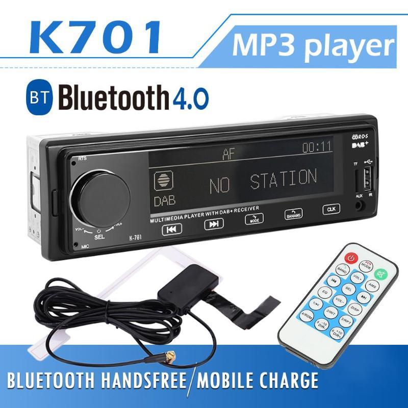 SWM K701 DAB RDS autoradio lecteur MP3 stéréo Bluetooth AUX AM FM récepteur Radio 1din unité de tête Support télécommande