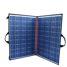 120W (2 PCS *60W)  Watt Foldable Black Solar Panel Charger China Mono Cell PV Module 10A Controller Blanket Charging