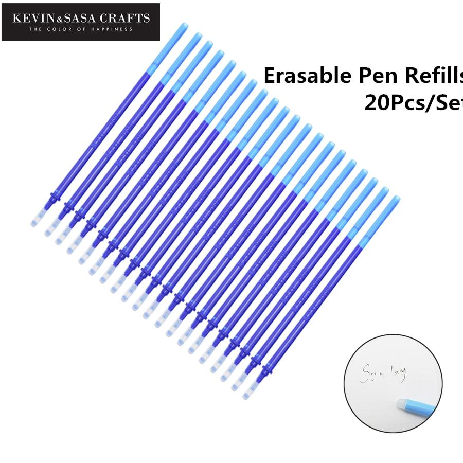 20Pcs/Set Gel Pen Erasable Refill New Office Magic Erasable Pen Refill 0.5mm Blue Black Ink School Stationery Writing Tool Gift