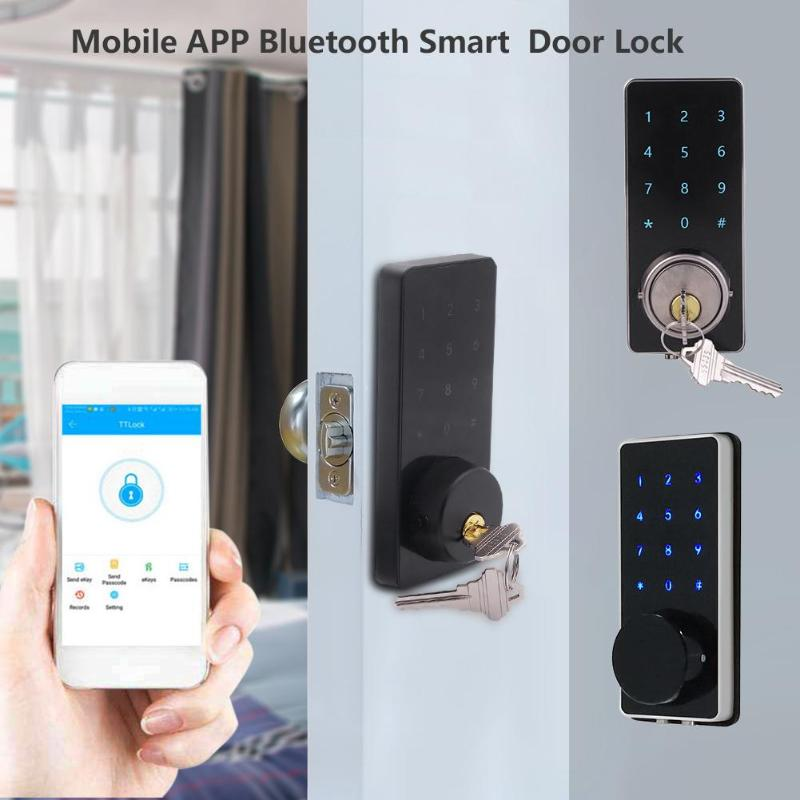 Electronic Door Password Lock Mobile Phone APP Bluetooth Smart Electronic Door Lock Touchscreen Password Lock Safety Door HandleElectronic Door Password Lock Mobile Phone APP Bluetooth Smart Electronic Door Lock Touchscreen Password Lock Safety Door Handle