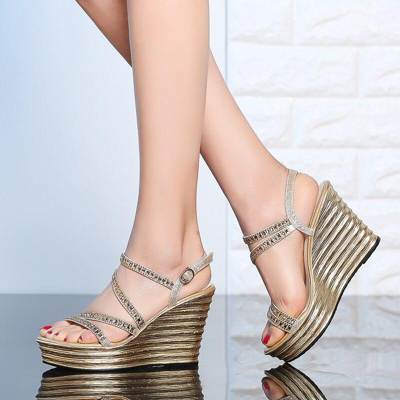 Genuino 10 Del 5 Sandalias Suela Gruesa Caja Abierto Zapatos Dedo Cm HYWE9IbeD2