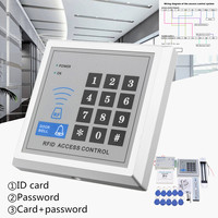 RFID Biometric Fingerprint Access Control Door Lock System Kit Card Reader Keypad+ Electric Magnetic/Bolt/Strike Lock