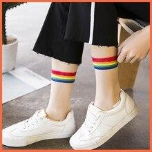 Harajuku Streetwear Funny Socks Transparent Summer 2019 Art Short Street Style Are Cute Kawaii