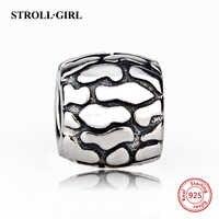 Neue Ankunft Fit charme pandora original silber 925 baumrinde charme perlen Armreifen Anhänger sterling-silber-Schmuck für frauen Geschenke