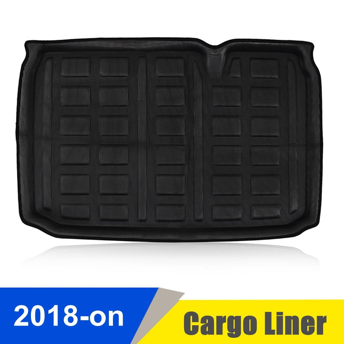 Black EVA font b Car b font Cargo Boot Liner Rear Trunk Mat Floor Tray Carpet