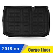 Черный EVA автомобильный грузовой загрузочный лайнер задний багажник коврик пол лоток ковер ForFord EcoSport 2018 авто автомобиль транспортные средства интерьерные аксессуары
