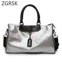 Waterproof Pu Leather Travel Organiser Bags Hand Luggage Organizer Fashionable Designers Large Duffle Bags Weekend Bag