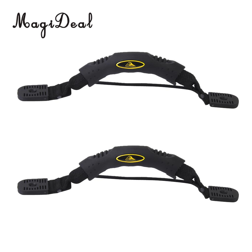 MagiDeal 2pcs Marine Kayak Canoe Side Mount Carry Handle With Bungee Cord Accessories For Fishing Flatable Boat Dinghy Yacht
