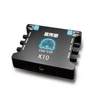 2019 New K10 USB Independent Sound Card External Sound Card for Mobile Notebook Desktop Computer K Song Recording