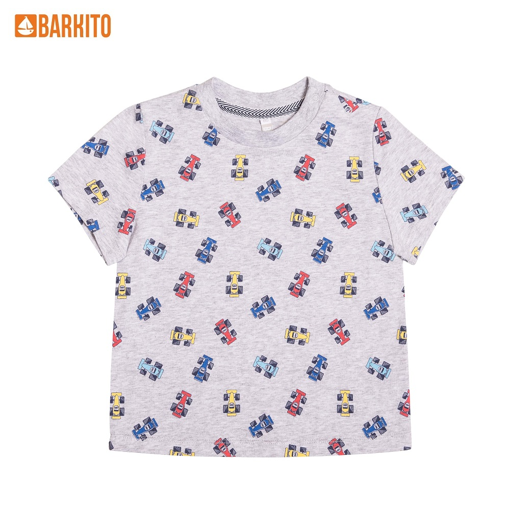T-Shirts Barkito 340316 children clothing Cotton S19B2001J(1) Gray Boys Casual