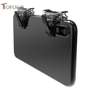Image 1 - T12 Gaming Trigger Voor PUBG Mobiele Telefoon L1R1 Shooter Controller Game Fire Knop Doel Sleutel voor PUBG Messen out Regels van Survival