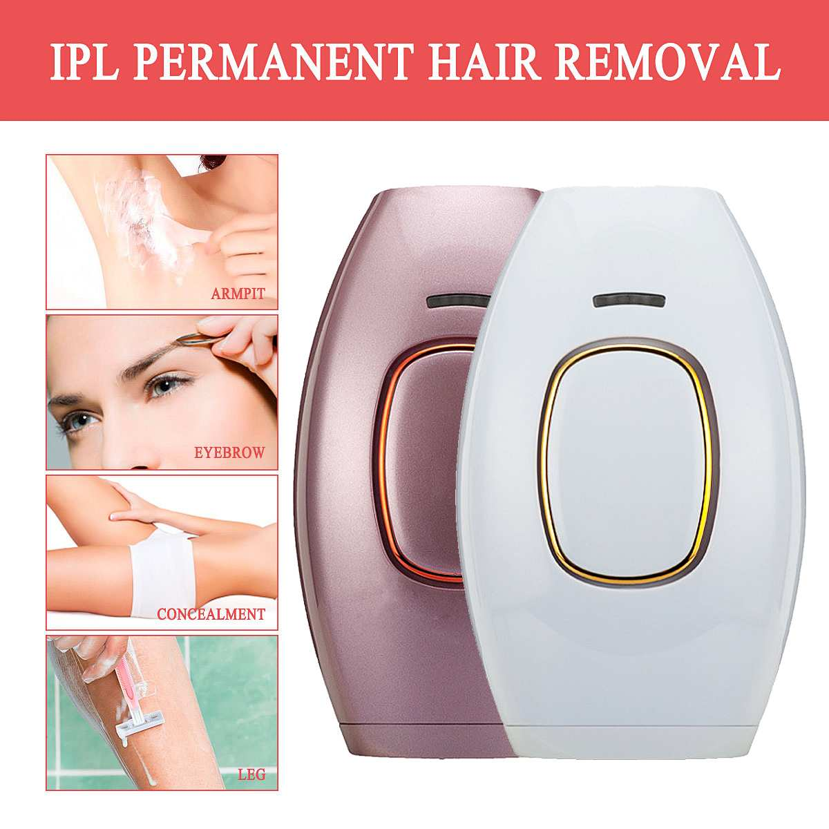 500000 Pulses IPL Laser Epilator Portable Depilation Machine Full Body Hair Removal Device Painless Personal Care Appliance New500000 Pulses IPL Laser Epilator Portable Depilation Machine Full Body Hair Removal Device Painless Personal Care Appliance New