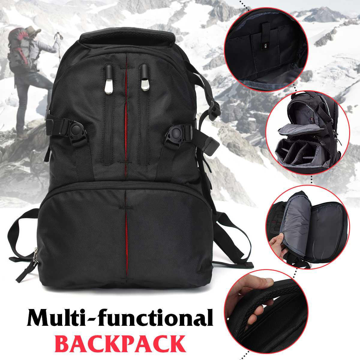 CLAITE противоударный водостойкий Универсальный SLR DSLR камера сумка для ноутбука чехол для объектива рюкзак черный почти все DSLR камеры s