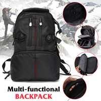 CLAITE Shockproof Waterproof multifunction SLR DSLR Camera Laptop Bag Lens Case Backpack Black for almost all DSLR cameras