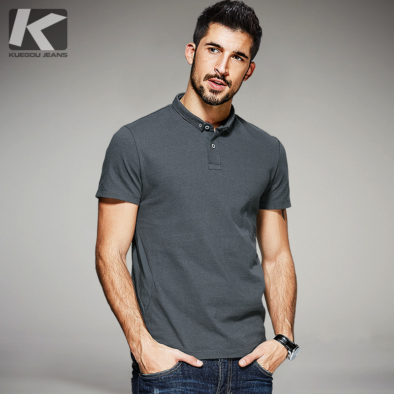 New Summer Mens Casual Poloshirts Patchwork Gray Brand Clothing Man's Short Sleeve RT-9534 Slim Fit Clothes Male Wear Tops 9534