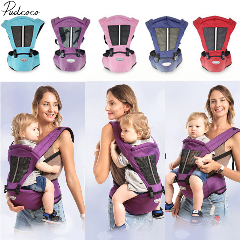 pudcoco 2019 Newborn Baby Carrier Sling Wrap Backpack Front