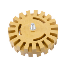 Decal Removal Eraser Wheel w/ Power Drill Arbor Adapter 4 100mm Rubber Pinstripe Polishing Car Sticker Remover Tool