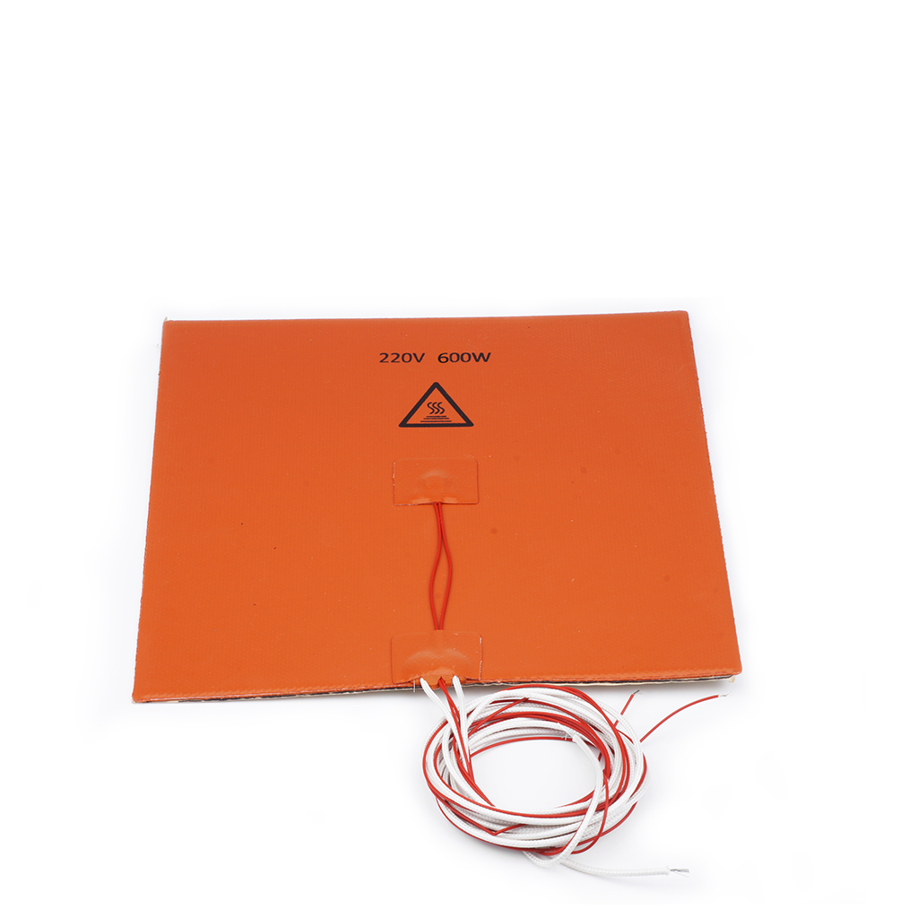 200W 12V 200x200mm Silicone Heater Pad for 3D Printer Heated Bed Heating Mat