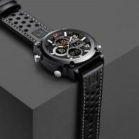 BINZI мужские наручные кварцевые часы класса люкс с водонепроницаемым корпусом и ремешком из натуральной кожи