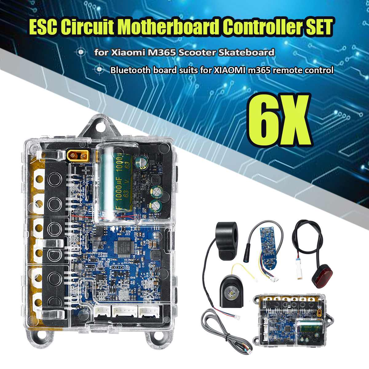 Electric Scooter Skateboard For XIAOMI m365 Motherboard Main Board ESC Circuit Board Head Lights Controller for