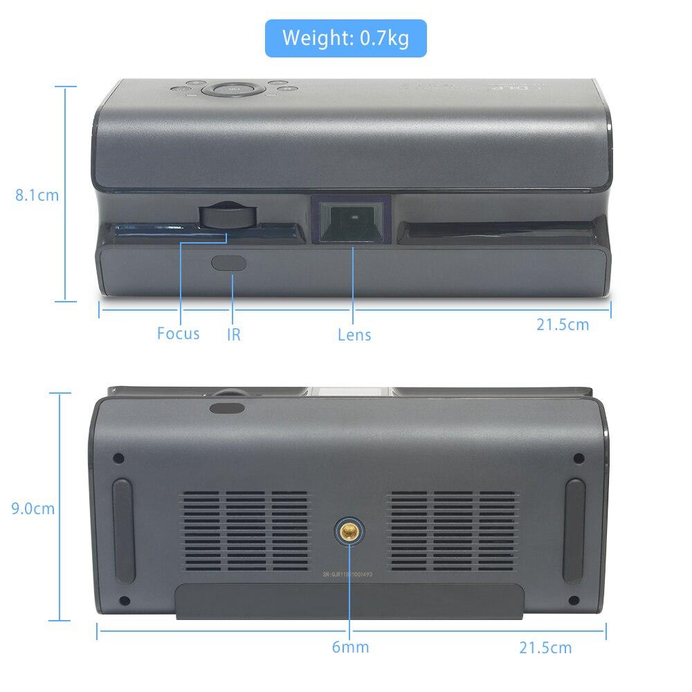 Touyinger K1 Mini pocket projektor 250ANSI Lumen Android wifi tragbare Handheld smartphone Bluetooth HDMI Home cinema Beamer