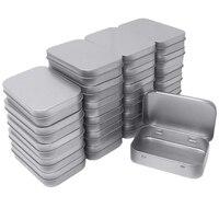 24 упаковка Металлическая Прямоугольная пустая навесная коробка для баночек с красками контейнеры мини портативная коробка Маленький Комп...