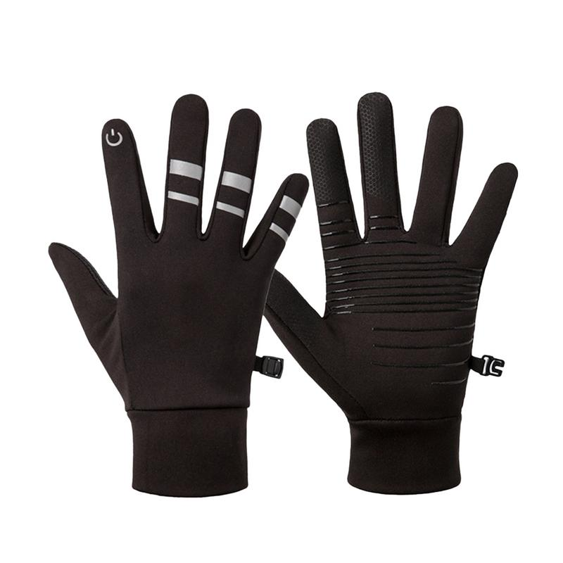 2018 New Running Gloves Winter Plush Thermal Sports Outdoor Windproof Waterproof Non-slip Touch Screen All Fingers Gloves