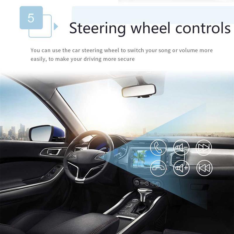 Lecteur autoradio Auto lecteur MP3 Radio Bluetooth GPS Navigation voiture stéréo entièrement capacitif écran tactile pour Android 8.1 - 6