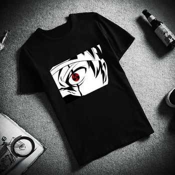 Fashion Short Sleeve TShirt Uchiha eyes Itachi Sasuke Hatake Kakashi Naruto Printed 100% Cotton Top Tees Unisex TShirt