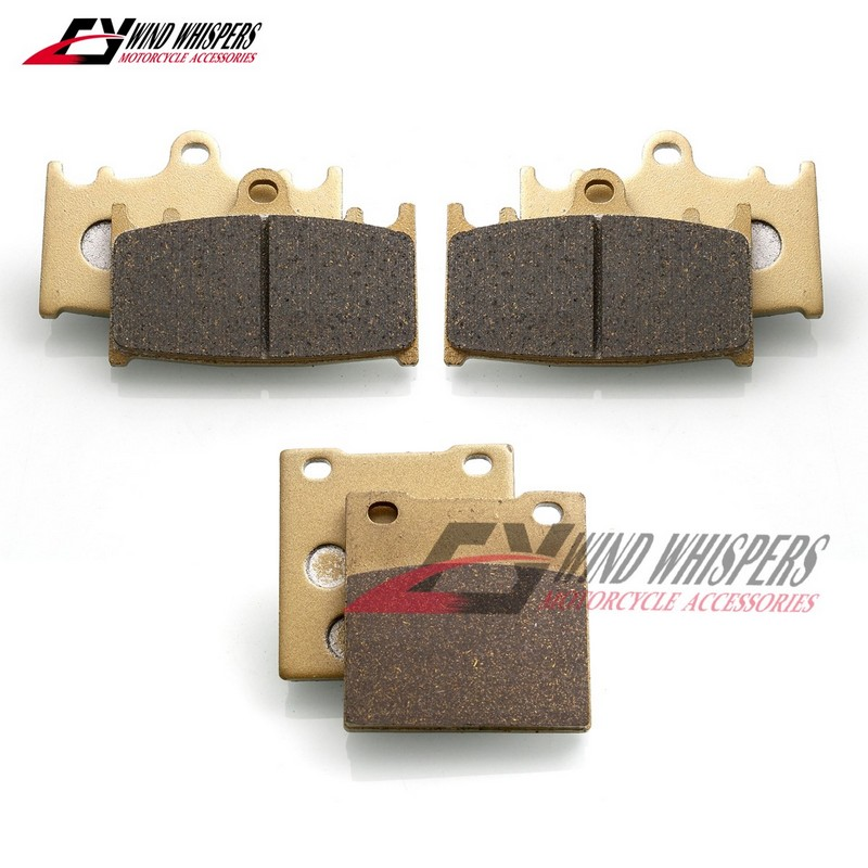 AHL Front /& Rear Brake Pads Set for Kawasaki ZZR1400 // ZX14 Ninja ZX1400 A//C 2006-2014 Sintered copper-based