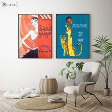 Josephine Baker Cartoon Figure Canvas Printed Painting Wall Pictures Home Decor Posters And Prints Art For Living Room