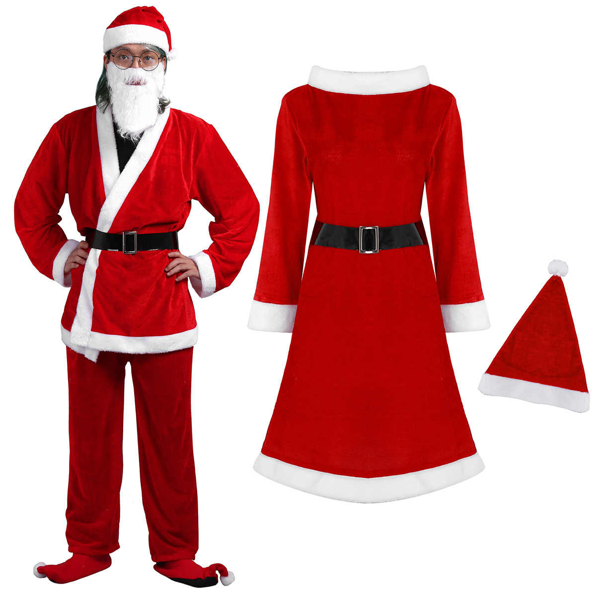 222ad748113 Detail Feedback Questions about DPOIS Christmas Santa Claus Costume ...