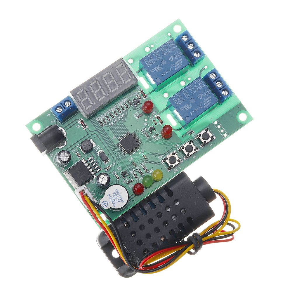 Temperature and Humidity Control Board AM2301 Sensor Module 5V~24V DC 10A ControllerTemperature and Humidity Control Board AM2301 Sensor Module 5V~24V DC 10A Controller
