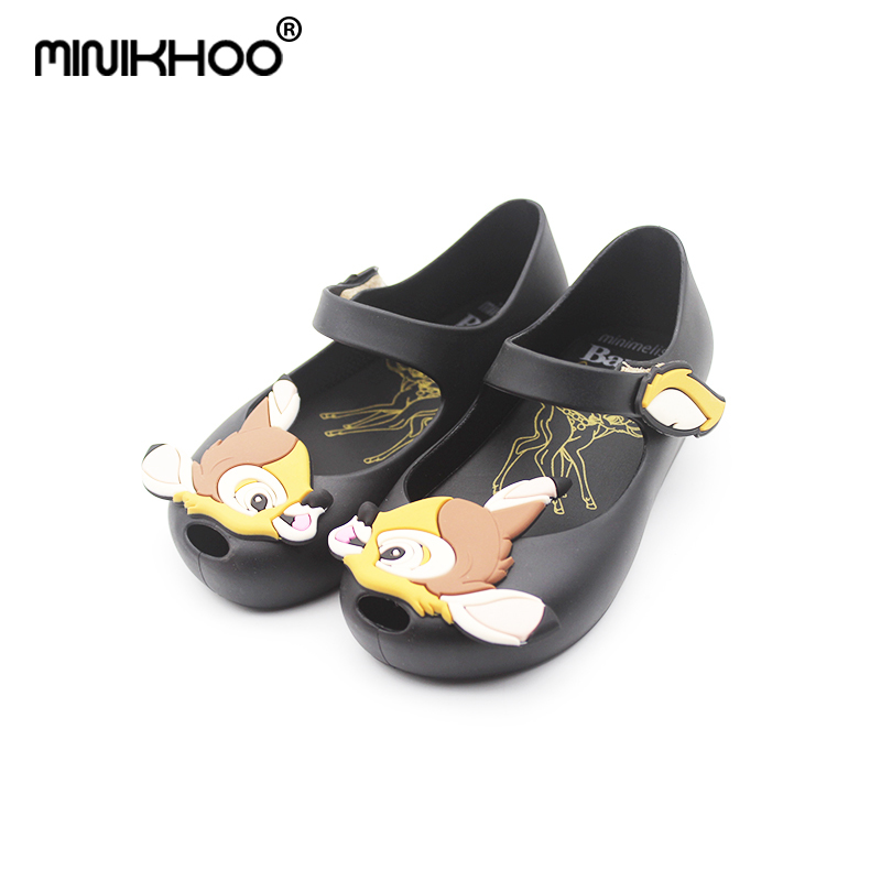 Mini Melissa Original Brand Jelly Sandals Deer Bambi Girls Breathable Girls Beach Sandals Mini Melissa Toddler Shoes 15cm-18cmMini Melissa Original Brand Jelly Sandals Deer Bambi Girls Breathable Girls Beach Sandals Mini Melissa Toddler Shoes 15cm-18cm