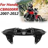 Front Headlight Bracket Durable Plastic Pre drilled Upper Stay Fairing Black Easy Installation For Honda CBR600RR 2007 2012