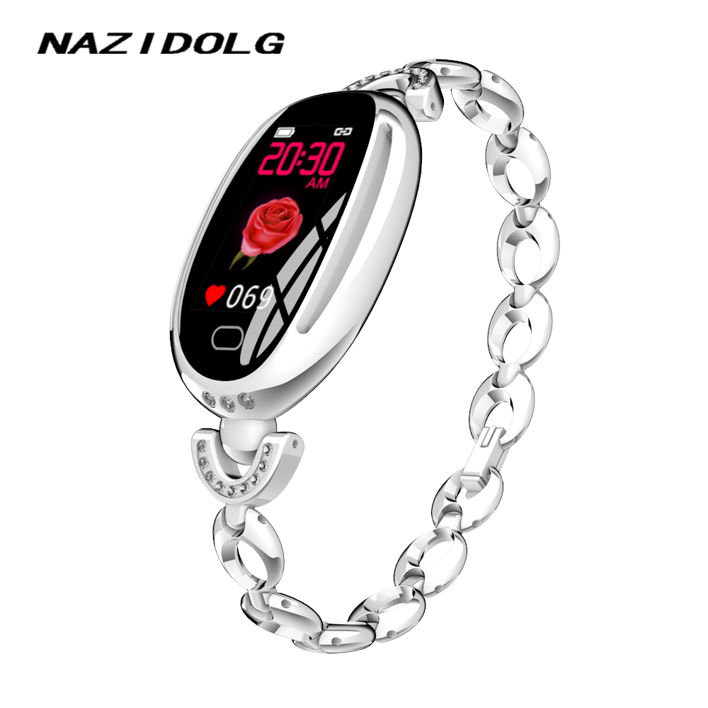 Women Smart watch fashion noble with Heart rate Blood pressure monitoring Call reminder Bluetooth for android