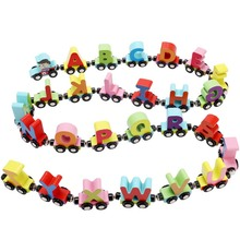 Educational Toys Train For Kids Children Puzzle Letters/Digital Alphabet Wooden Colourful Personalized Oyuncak