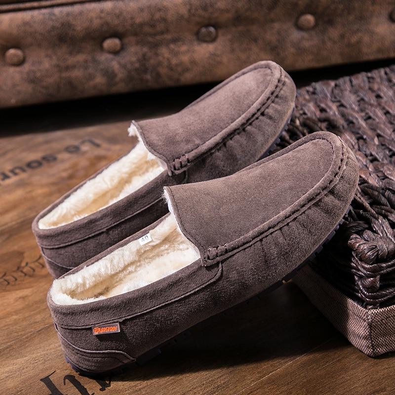 De Inverno Sneakers Calçado Adultos Homens khaki brown gray Deslizamento Mocassins Em Calçados Barco blue Black Camurça Para Sapatos Casuais Hombre Masculinos Luxo Couro Dos Homem PzHn7Hwdq
