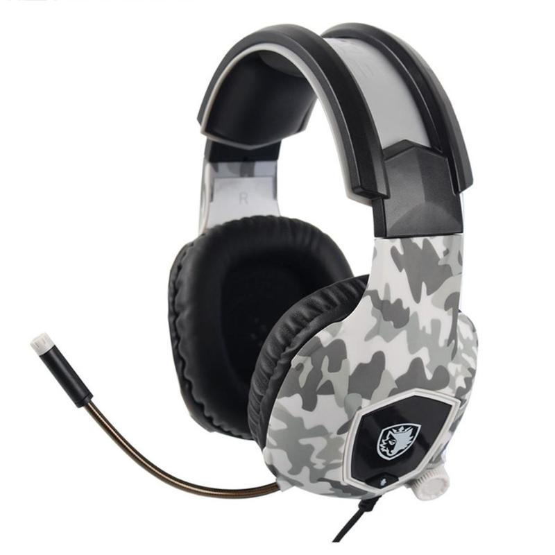 SADES SA818 Wired Gaming Headset Headphones with Mic for PC PS4 Camouflage Ergonomic design and soft earplugs for extra comfort