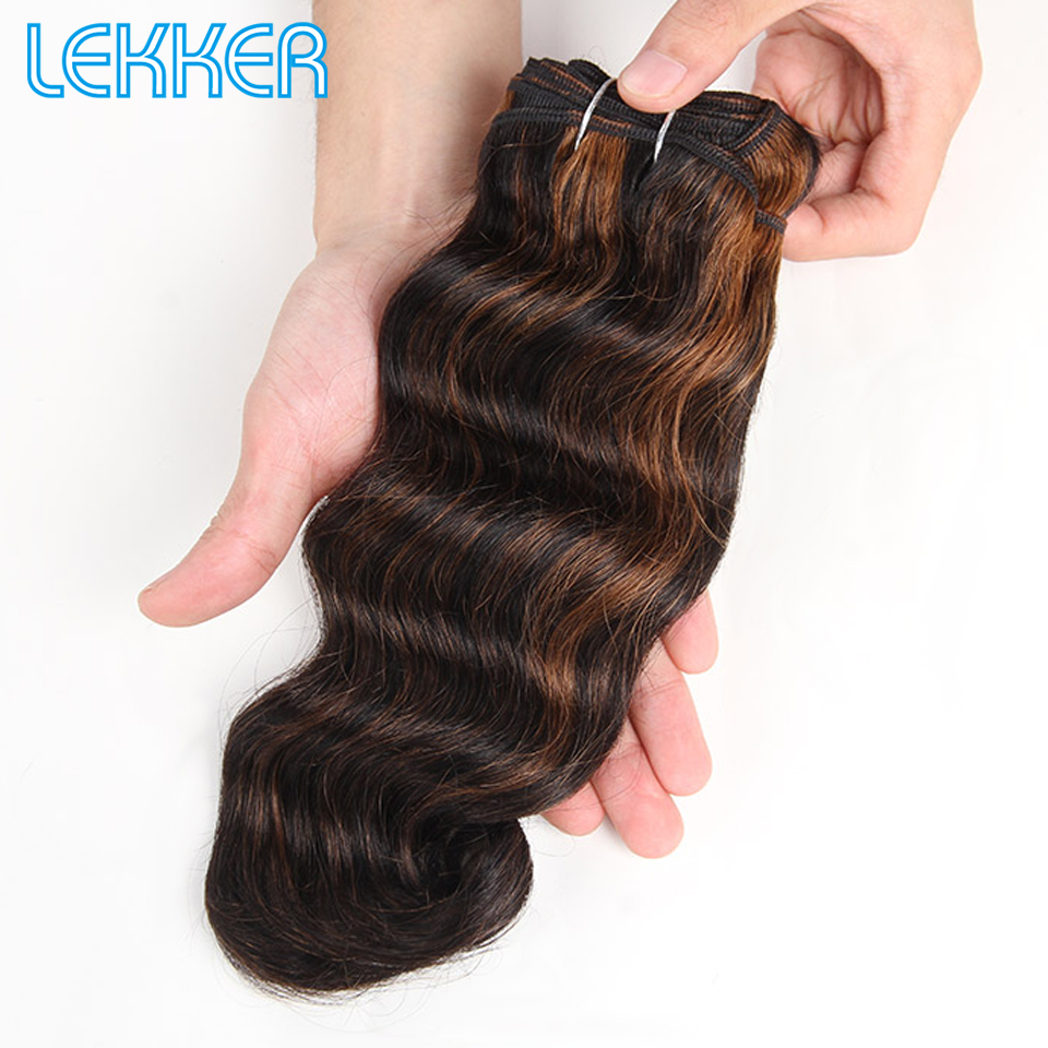 Lekker Pre-colored Brazilian Remy Human Hair Weave 100% Body Wave Human Hair P1B/30 P6/27 P4/27 P4/30 Piano Auburn Color