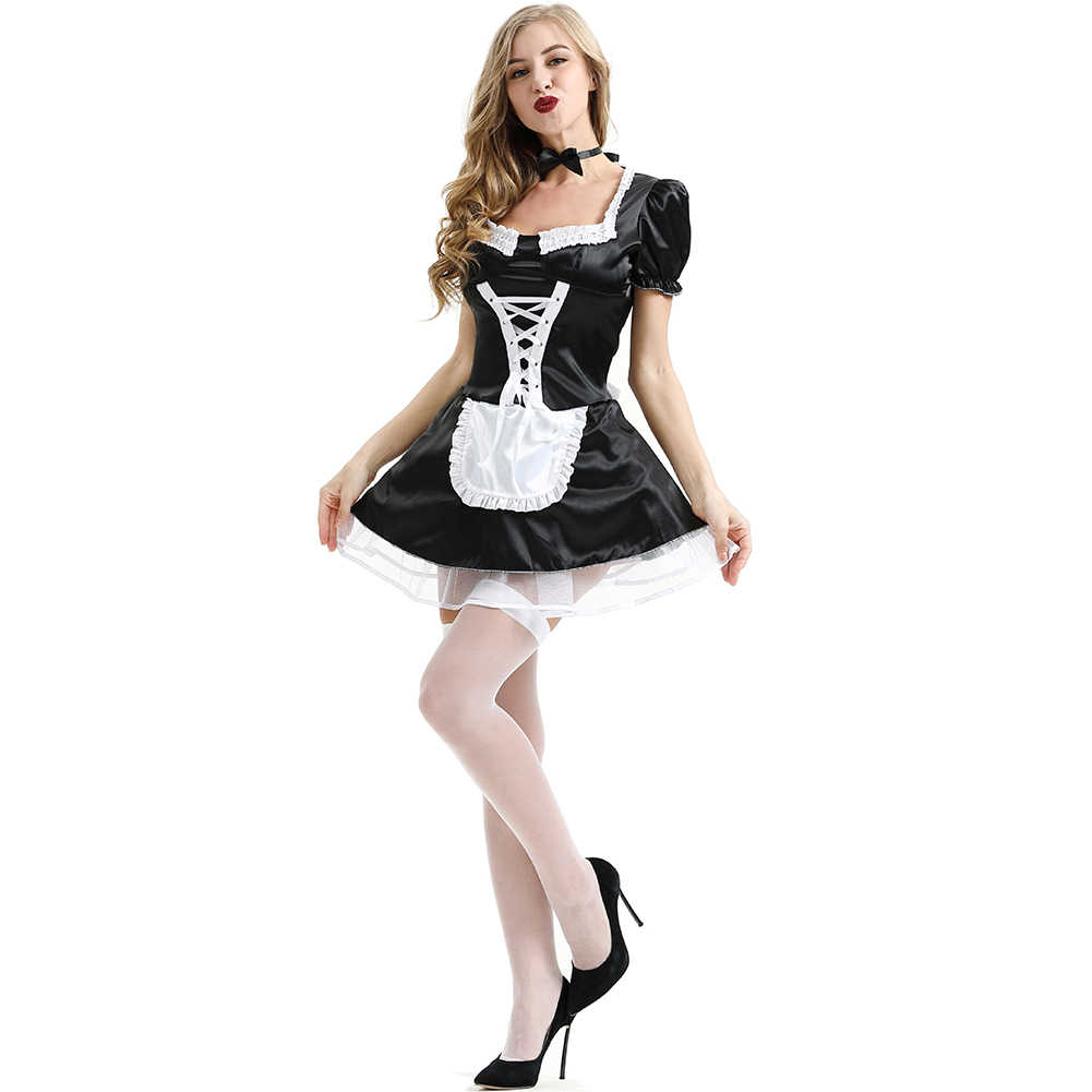 2e6f3bf3f6c ... Valentine's Day Exotic French Lace Women Dress Sexy Cosplay Costume  Maid Outfit Plus Size Lingerie Uniform
